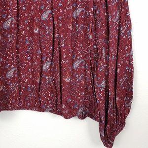 Lucky Brand Tops - Lucky Brand Boho Paisley Print Blouse